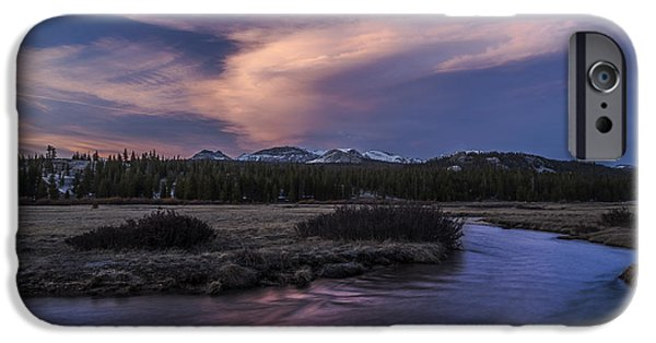 River iPhone Cases - Tuolumne Meadows Sunset iPhone Case by Cat Connor