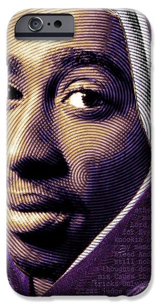 Tupac Shakur and Lyrics iPhone Case by Tony Rubino