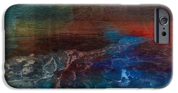 Turbulent Skies iPhone Cases - Turbulence iPhone Case by Bonnie Bruno