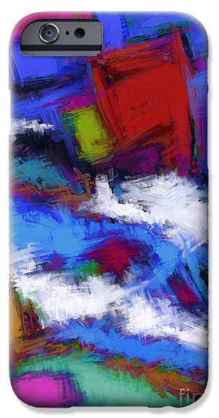 Loose Style Digital iPhone Cases - Turbulence iPhone Case by Keith Mills