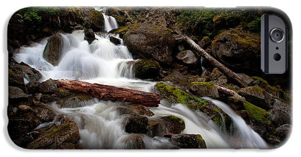 North Cascades iPhone Cases - Turbulent Flow iPhone Case by Mike Reid