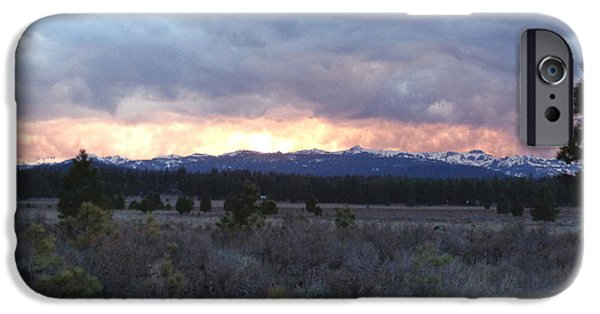 Turbulent Skies iPhone Cases - Turbulent Sierra Skies iPhone Case by Kristina Lammers