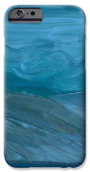 Turbulent Skies and a Glacier  iPhone Case by Carolina Liechtenstein