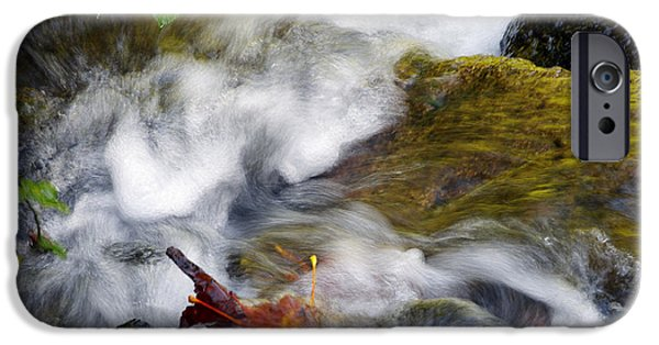 Turbulent iPhone Cases - Turbulent Waters iPhone Case by Sharon  Talson