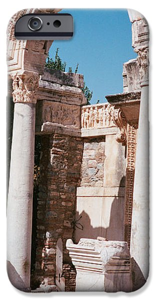 Ephesus iPhone Cases - Turkey, Ephesus, Building Facade iPhone Case by Panoramic Images