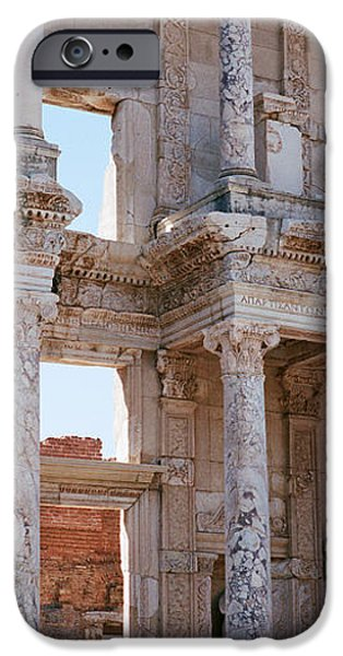 Ephesus iPhone Cases - Turkey, Ephesus, Facade Of Library Ruins iPhone Case by Panoramic Images