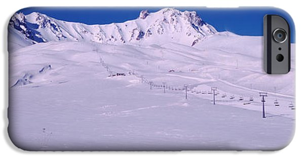 Getting Away From It All iPhone Cases - Turkey, Ski Resort On Mt Erciyes iPhone Case by Panoramic Images