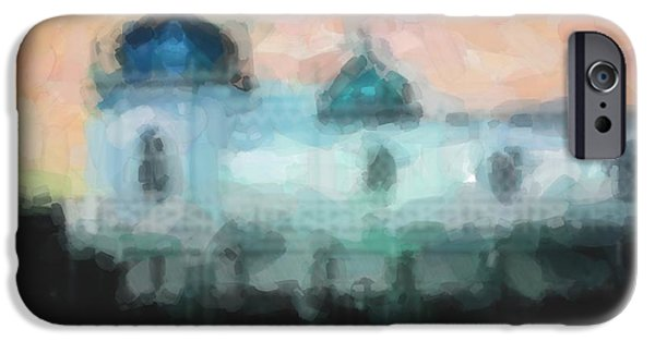 Bathing Mixed Media iPhone Cases - Turkish bathhouse in abstrac watercolors iPhone Case by Toppart Sweden