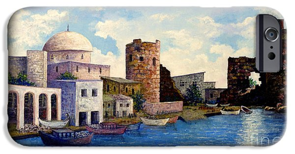 East Village iPhone Cases - Turkish Ruins on the Med iPhone Case by Lou Ann Bagnall