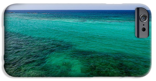 Fine Art Photo iPhone Cases - Turks Turquoise iPhone Case by Chad Dutson