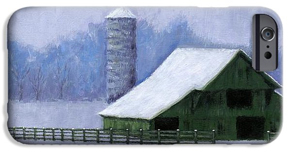 Nashville Tennessee Paintings iPhone Cases - Turner Barn in Brentwood iPhone Case by Janet King