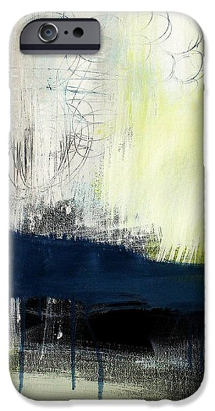 Interior Mixed Media iPhone Cases - Turning Point - contemporary abstract painting iPhone Case by Linda Woods