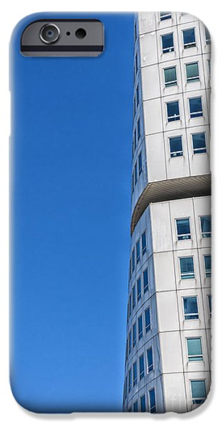 Geometric Style iPhone Cases - Turning Torso Skyscraper iPhone Case by Antony McAulay
