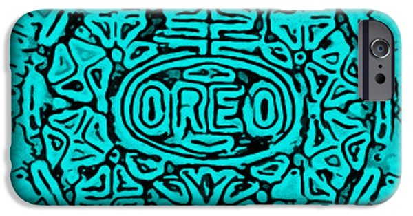 Oreo iPhone Cases - Turquoise Oreo iPhone Case by Rob Hans