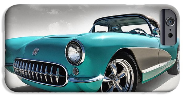 Chevrolet iPhone Cases - Turquoise 57 iPhone Case by Douglas Pittman