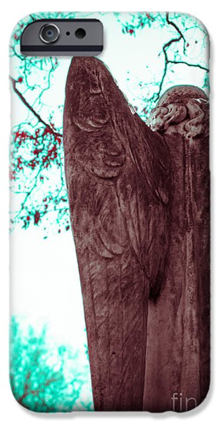 Angel. Spiritual iPhone Cases - Turquoise Angel iPhone Case by Sonja Quintero
