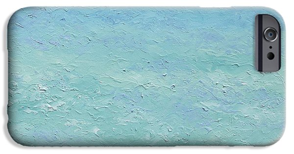 Bathroom Paintings iPhone Cases - Turquoise ocean 2 iPhone Case by Jan Matson