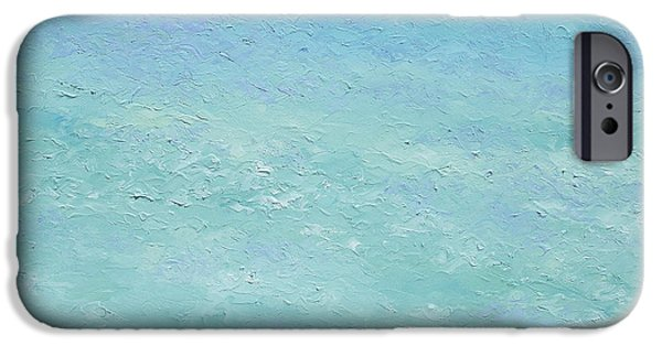 Bathroom Paintings iPhone Cases - Turquoise Ocean 3 iPhone Case by Jan Matson