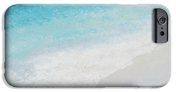 Bathroom Paintings iPhone Cases - Turquoise Ocean 4 iPhone Case by Jan Matson