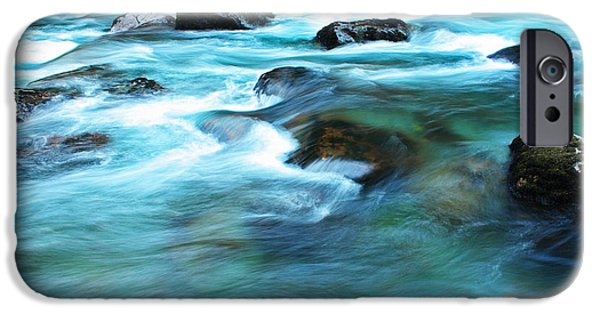 Deep River County Park iPhone Cases - Turquoise Ohanapecosh 4034 iPhone Case by Donald Sewell