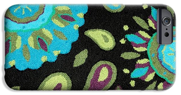 Photographs Tapestries - Textiles iPhone Cases - Tapestry Turquoise Rug iPhone Case by Janette Boyd