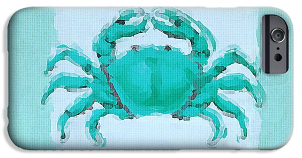 Seahorse iPhone Cases - Turquoise Seashells I iPhone Case by Lourry Legarde
