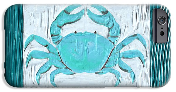 Abstract Seascape iPhone Cases - Turquoise Seashells XIX iPhone Case by Lourry Legarde