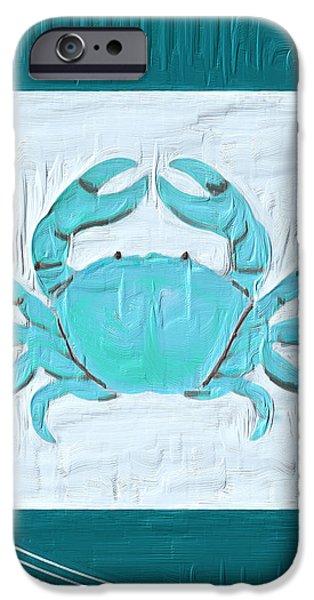 Turquoise Seashells XIX iPhone Case by Lourry Legarde