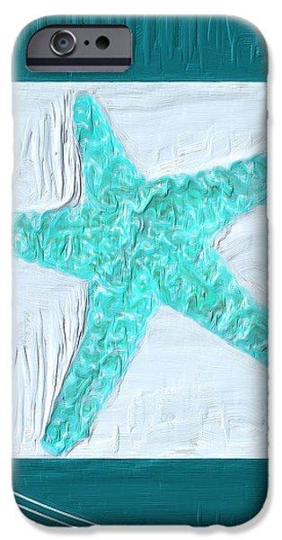 Turquoise Seashells XVI iPhone Case by Lourry Legarde