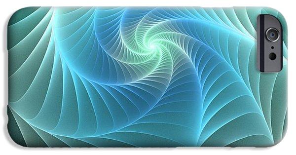 Net Mixed Media iPhone Cases - Turquoise Web iPhone Case by Anastasiya Malakhova