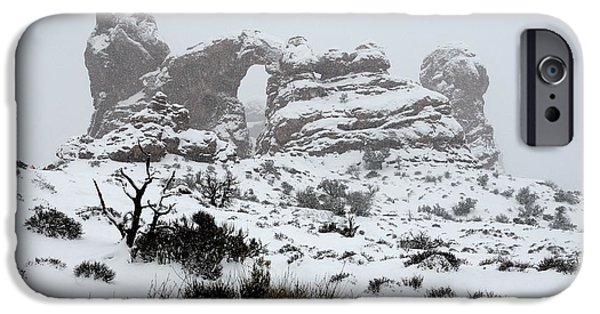 States iPhone Cases - Turret Arch in Arches National Park iPhone Case by Tranquil Light  Photography