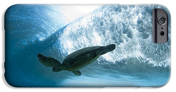 Ocean Photography iPhone Cases - Turtle clouds iPhone Case by Sean Davey