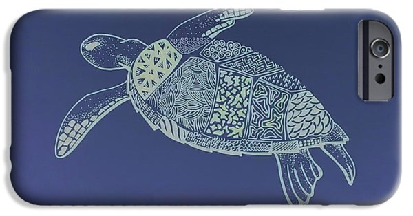 Reptiles Drawings iPhone Cases - Turtle iPhone Case by Debbie McIntyre