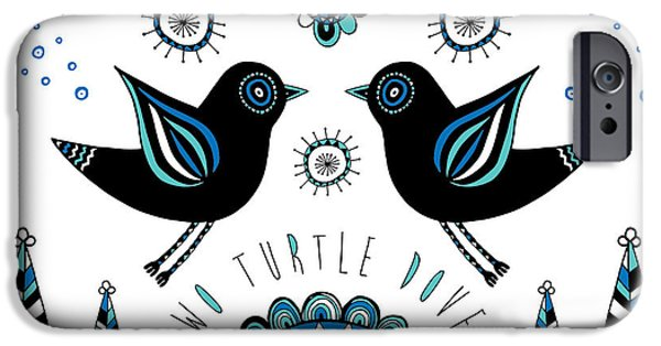 Contemporary Abstract iPhone Cases - Turtle Dove iPhone Case by Susan Claire
