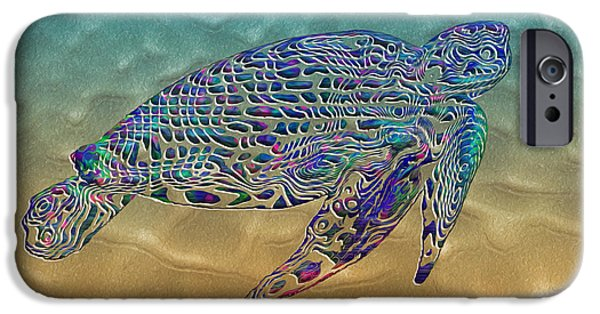 Kemp iPhone Cases - Turtle iPhone Case by Jack Zulli