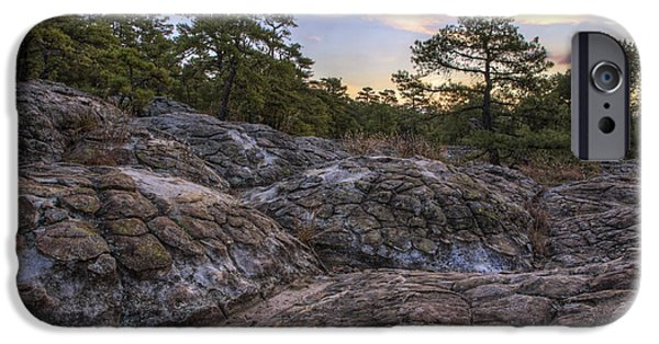 Moonscape iPhone Cases - Turtle Rocks Atop Petit Jean Mountain - Arkansas iPhone Case by Jason Politte