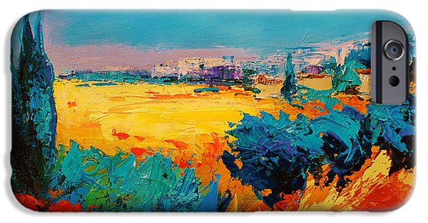 Tuscan Landscapes iPhone Cases - Tuscan Beauty iPhone Case by Elise Palmigiani