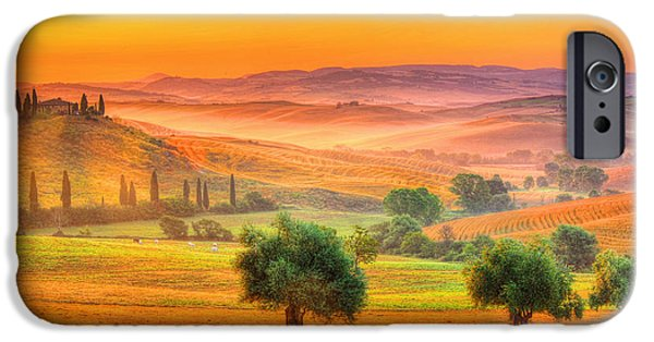 Morning iPhone Cases - Tuscan Dream iPhone Case by Midori Chan