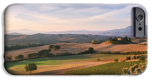 Tuscan Sunset iPhone Cases - Tuscan landscape iPhone Case by Matteo Colombo