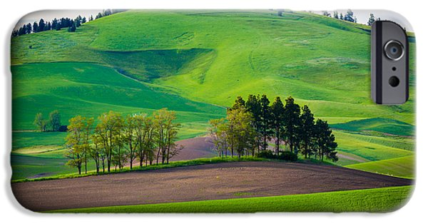 Agricultural iPhone Cases - Tuscan Palouse iPhone Case by Inge Johnsson