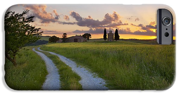 Tuscan Road iPhone Cases - Tuscan Sunset iPhone Case by Brian Jannsen