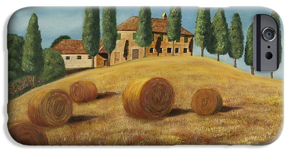 Tuscan Hills Paintings iPhone Cases - Tuscan sunshine iPhone Case by Fernando Barozza