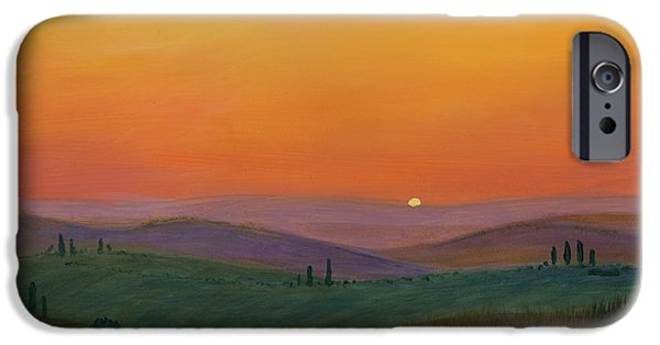 Cecilia iPhone Cases - Tuscan Twilight 1 iPhone Case by Cecilia  Brendel