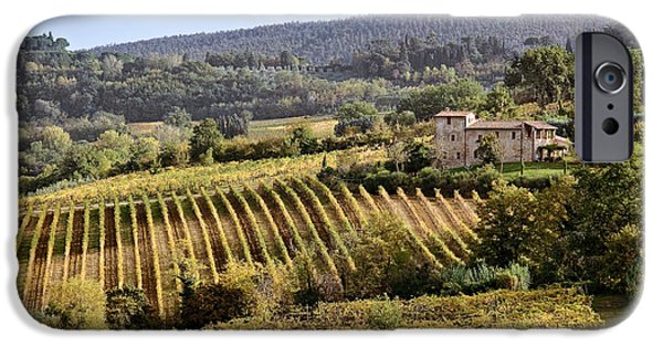 Tuscan Hills iPhone Cases - Tuscan Valley iPhone Case by Dave Bowman