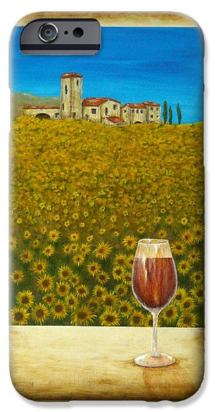 Tuscan Landscapes iPhone Cases - Tuscan View iPhone Case by Pamela Allegretto