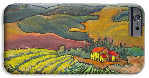 Chianti Landscape iPhone Cases - Tuscan Vineyard iPhone Case by Mohamed Hirji