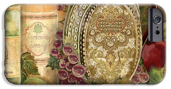 Recently Sold -  - Wine Bottles iPhone Cases - Tuscan Wine-D iPhone Case by Jean Plout