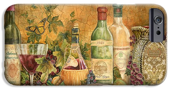 Original Acrylic iPhone Cases - Tuscan Wine Treasures iPhone Case by Jean Plout