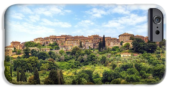 Dells iPhone Cases - Tuscany - Castelnuovo dellabate iPhone Case by Joana Kruse