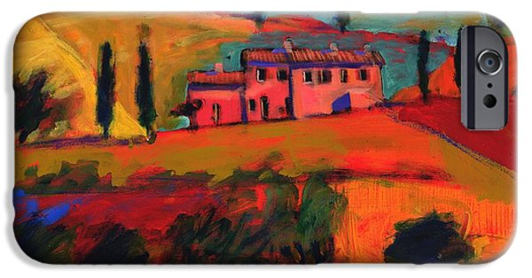 Summer iPhone Cases - Tuscany, 2008 Acrylic On Board iPhone Case by Paul Powis